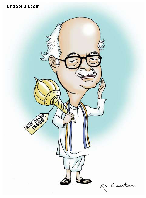 Lal Krishna Advani caricature cartoon