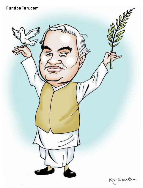 Atal Bihari Vajpayee caricature cartoon