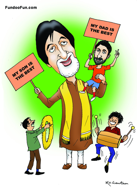 Amitabh Bachchan caricature cartoon
