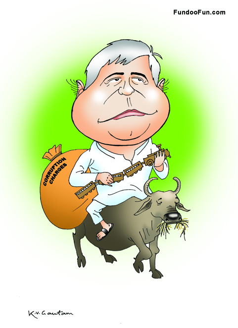 Laloo Prasad Yadav caricature cartoon