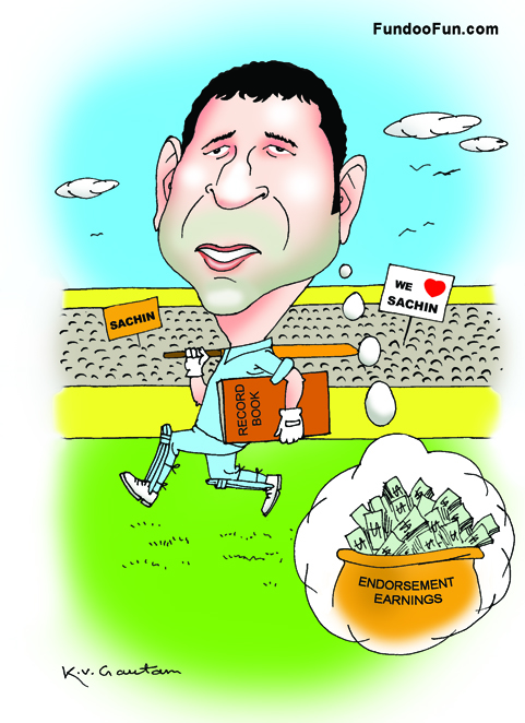 Sachin Tendulkar caricature cartoon