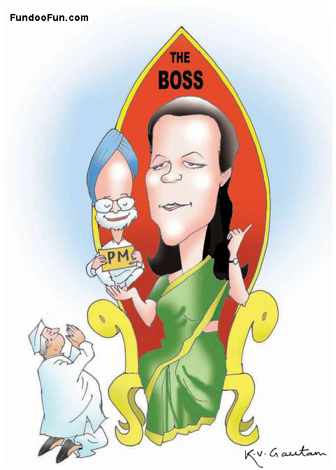 Sonia Gandhi caricature cartoon