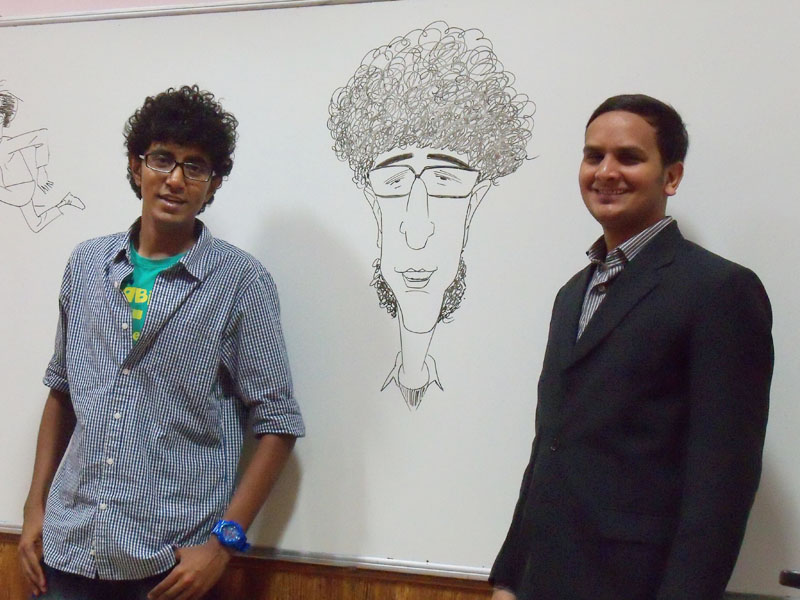 KV Gautam's Cartoon Workshop at Anna University