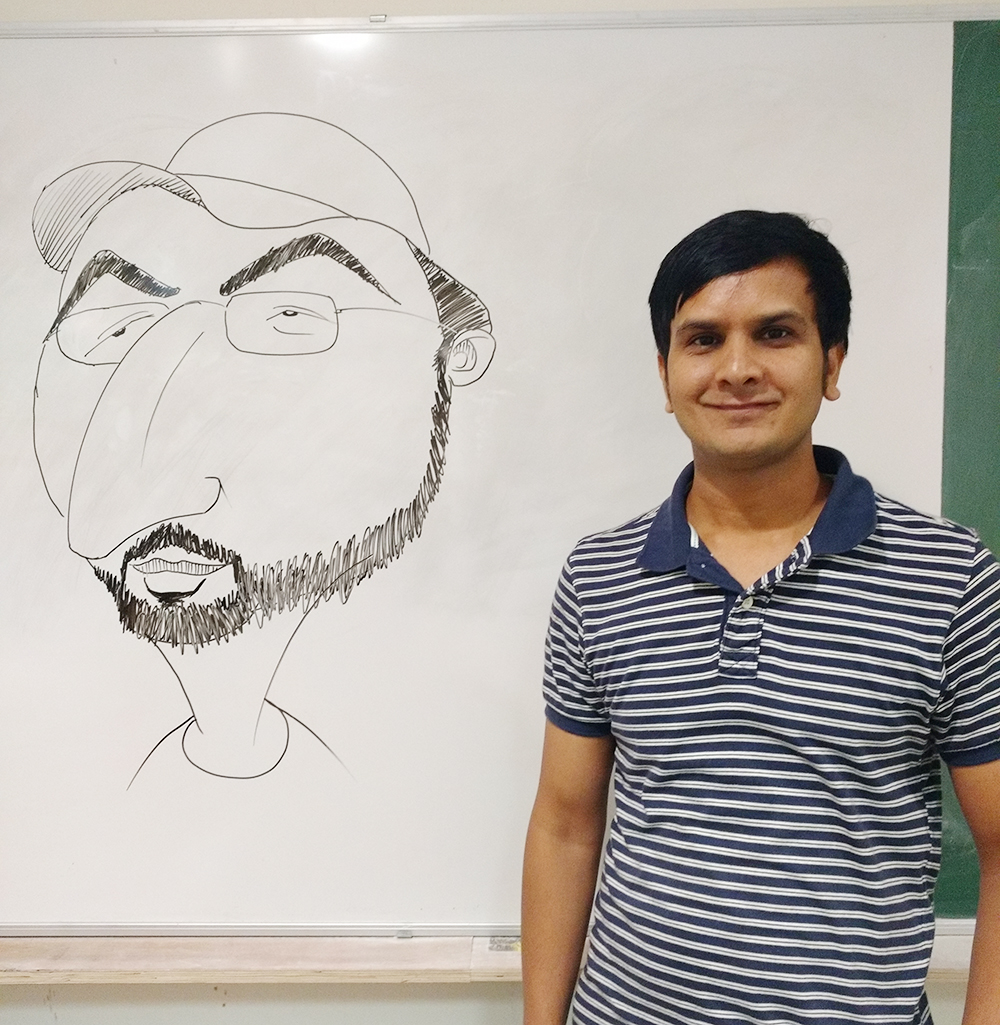 KV Gautam's Cartoon Workshop at IIT Kanpur